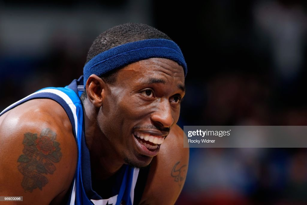Josh Howard #5 of the Dallas Mavericks smiles during the game against the Sacramento Kings on January 2, 2010 at Arco Arena in Sacramento, California. The Mavericks won 99-91.