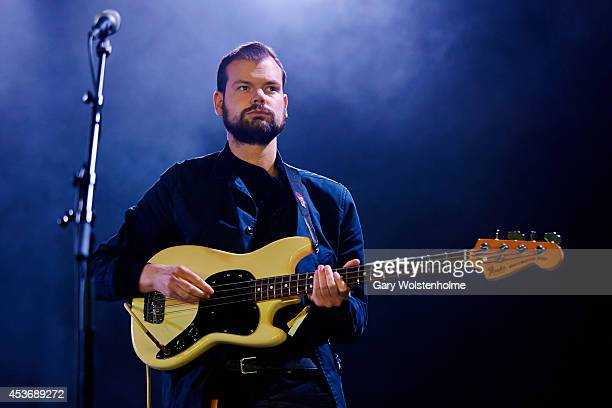 Josh Hunnisett of Woman's Hour performs on stage at Green Man Festival at Glanusk Park on August 16 2014 in Brecon United Kingdom