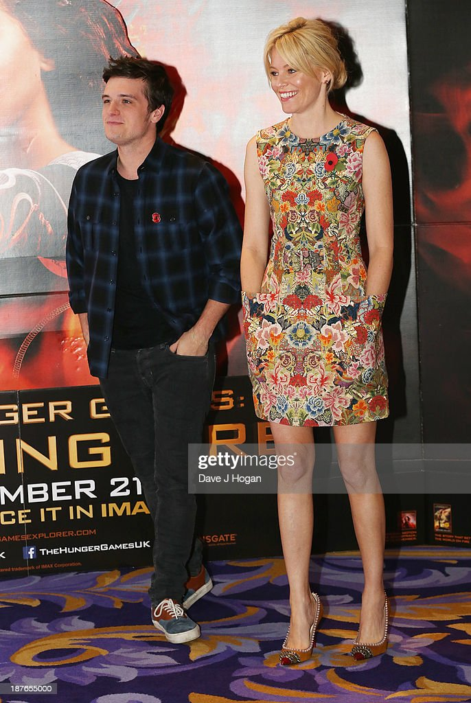 <a gi-track='captionPersonalityLinkClicked' href=/galleries/search?phrase=Josh+Hutcherson&family=editorial&specificpeople=673588 ng-click='$event.stopPropagation()'>Josh Hutcherson</a> and <a gi-track='captionPersonalityLinkClicked' href=/galleries/search?phrase=Elizabeth+Banks&family=editorial&specificpeople=202475 ng-click='$event.stopPropagation()'>Elizabeth Banks</a> attend a photocall for 'The Hunger Games: Catching Fire' at Corinthia Hotel London on November 11, 2013 in London, England.