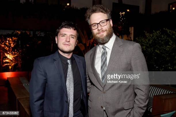 Josh Hutcherson and Seth Rogen attend the after party for the screening of 'The Disaster Artist' at AFI FEST 2017 Presented By Audi on November 12...