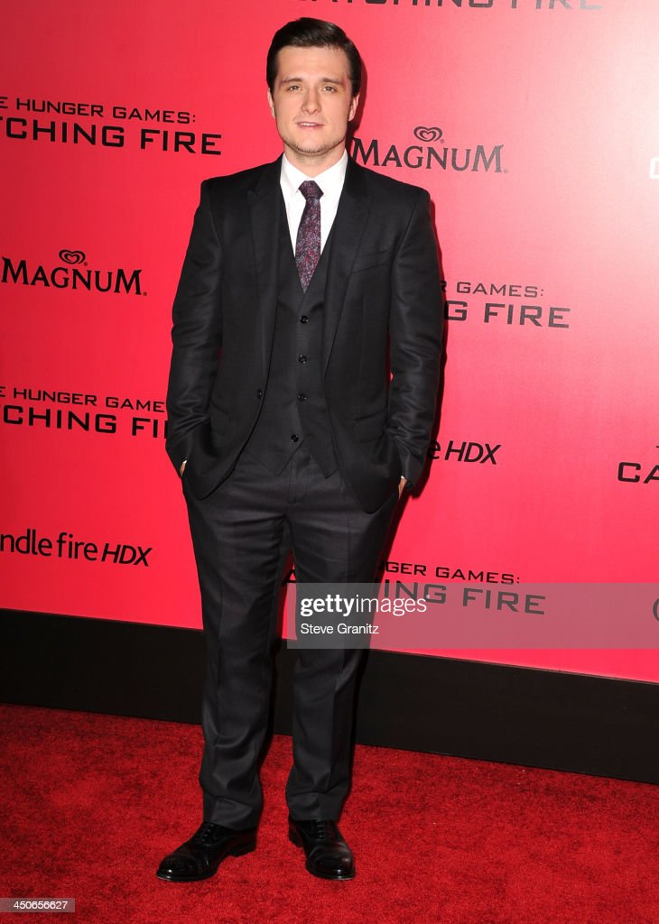 Josh Hutcherson arrives at the 'The Hunger Games: Catching Fire' - Los Angeles Premiere at Nokia Theatre L.A. Live on November 18, 2013 in Los Angeles, California.