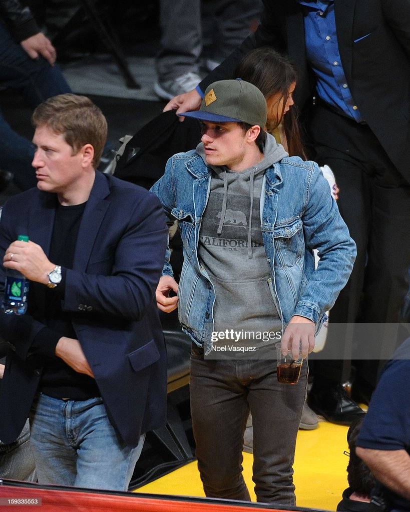 Josh Hutcherson attends a basketball game between the Oklahoma City Thunder and the Los Angeles Lakers at Staples Center on January 11, 2013 in Los Angeles, California.