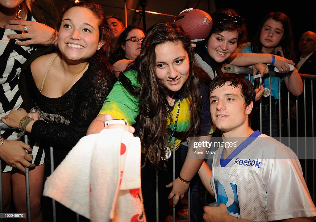 Josh Hutcherson attends DIRECTV'S 7th annual celebrity Beach Bowl at DTV SuperFan Stadium at Mardi Gras World on February 2, 2013 in New Orleans, Louisiana.