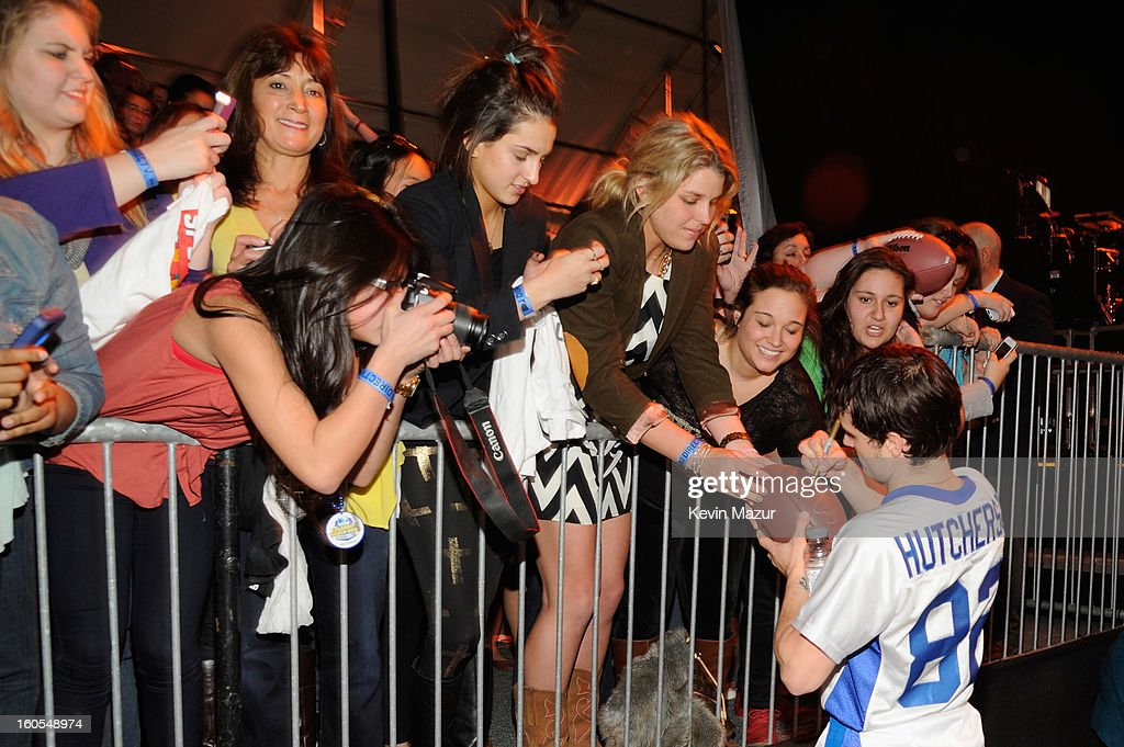 Josh Hutcherson attends DIRECTV'S 7th annual celebrity Beach Bowl at DTV SuperFan Stadium at Mardi Gras World on February 2, 2013 in New Orleans, Louisiana.