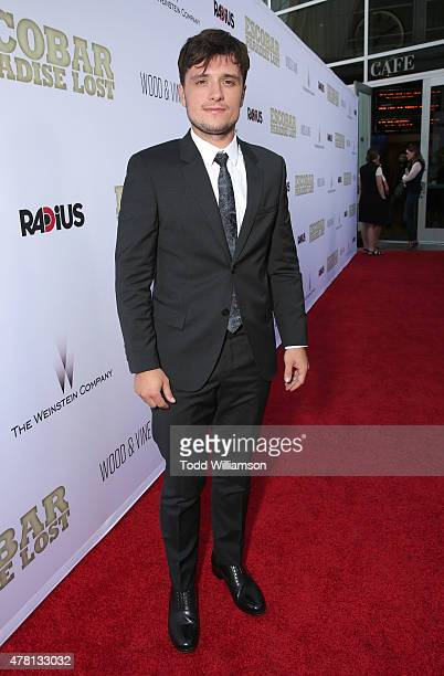 Josh Hutcherson attends RADiUS' Los Angeles Premiere For 'Escobar Paradise Lost' In Partnership With Wood Vine on June 22 2015 in Los Angeles...