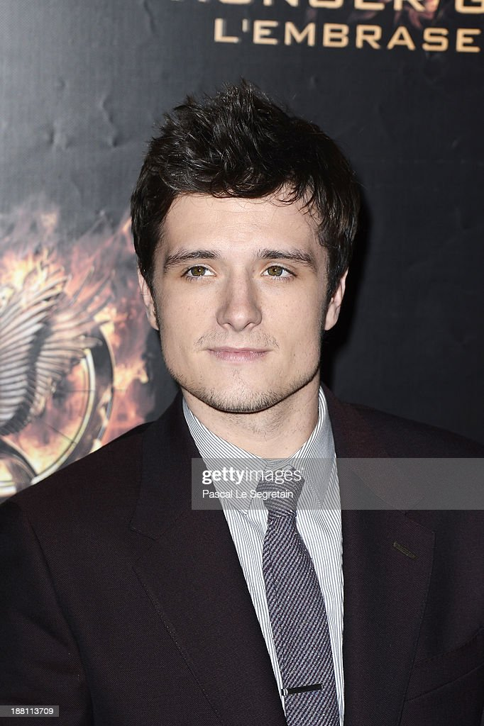 <a gi-track='captionPersonalityLinkClicked' href=/galleries/search?phrase=Josh+Hutcherson&family=editorial&specificpeople=673588 ng-click='$event.stopPropagation()'>Josh Hutcherson</a> attends 'The Hunger Games: Catching Fire' Paris Premiere at Le Grand Rex on November 15, 2013 in Paris, France.