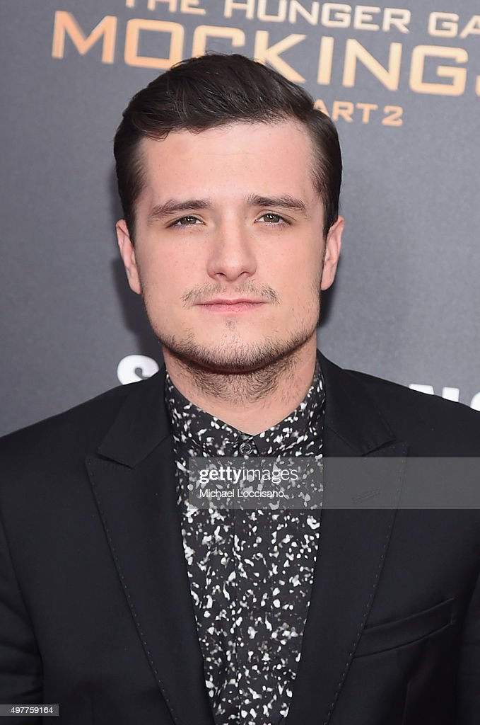<a gi-track='captionPersonalityLinkClicked' href=/galleries/search?phrase=Josh+Hutcherson&family=editorial&specificpeople=673588 ng-click='$event.stopPropagation()'>Josh Hutcherson</a> attends 'The Hunger Games: Mockingjay- Part 2' New York Premiere at AMC Loews Lincoln Square 13 theater on November 18, 2015 in New York City.