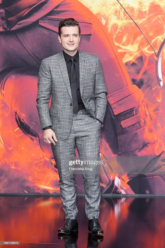 Josh Hutcherson attends 'The Hunger Games: Mockingjay - Part 2' world...