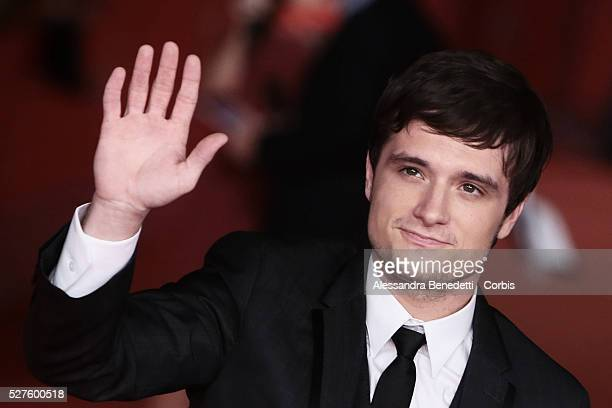 Josh Hutcherson attends the premiere of movie 'The Hunger Games Catching Fire' during the 8th International Rome Film Festival