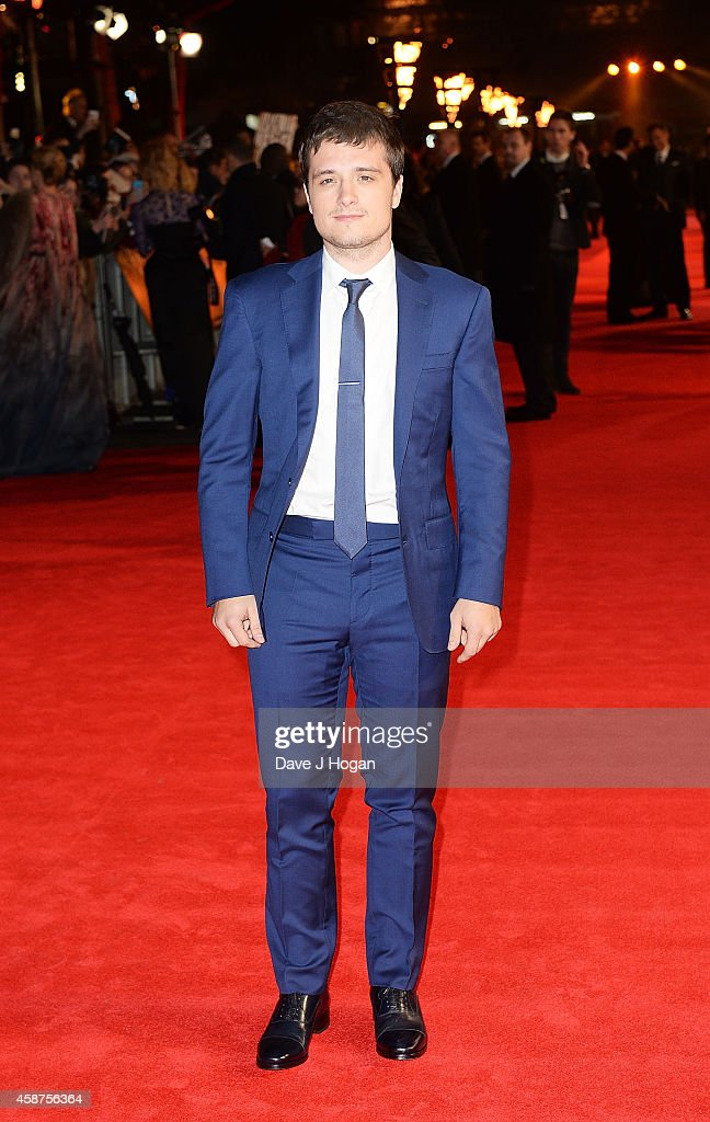 Josh Hutcherson attends the World Premiere of 'The Hunger Games Mockingjay Part 1' at Odeon Leicester Square on November 10 2014 in London England
