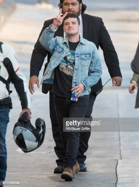 Josh Hutcherson is seen at 'Jimmy Kimmel Live' on November 09 2017 in Los Angeles California