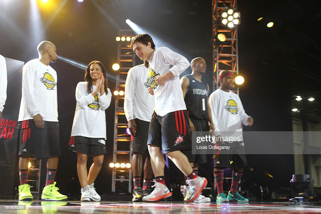 Josh Hutcherson of Team East attends the 2013 NBA All-Star Celebrity Game at George R. Brown Convention Center on February 15, 2013 in Houston, Texas.