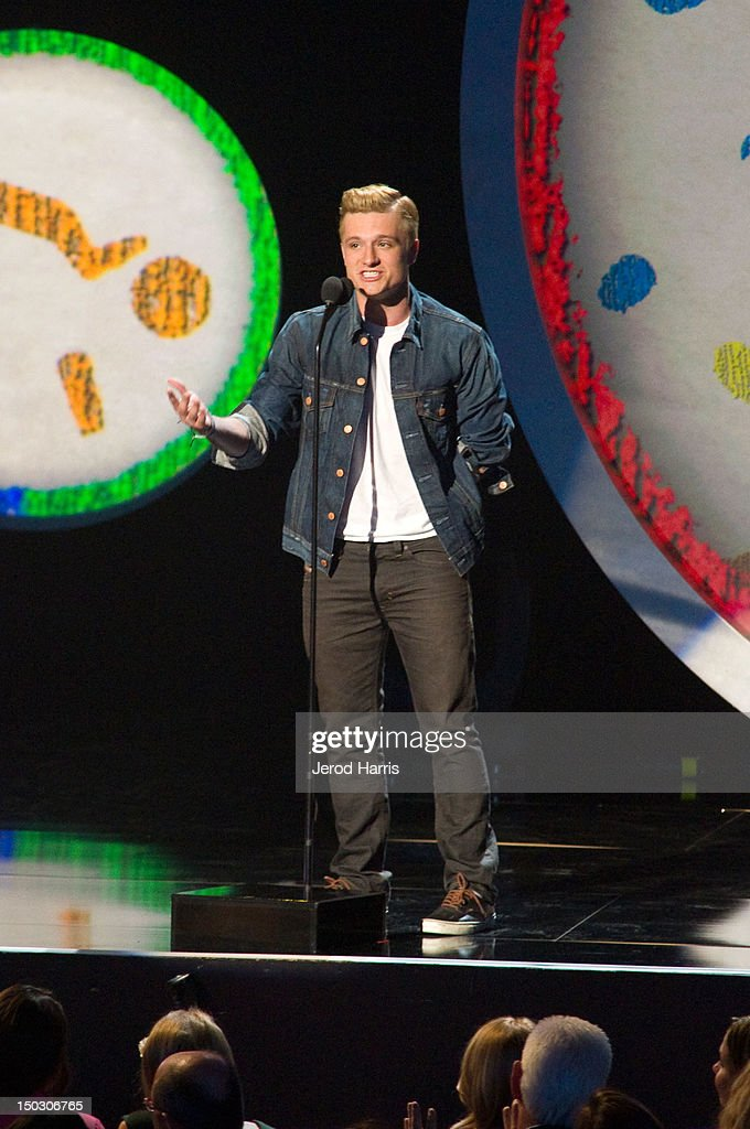 Josh Hutcherson speaks onstage at the 'Teachers Rock' benefit event held at Nokia Theatre L.A. Live on August 14, 2012 in Los Angeles, California.