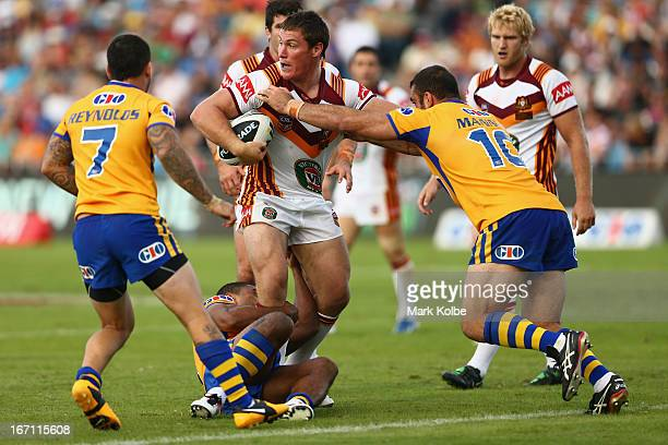 Josh Jackson of Country is tackled during the Origin match between City and Country at BCU International Stadium on April 21 2013 in Coffs Harbour...