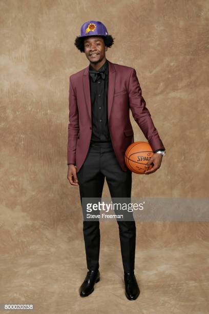 Josh Jackson poses for a portrait after being drafted number four overall to the Phoenix Suns during the 2017 NBA Draft on June 22 2017 at Barclays...