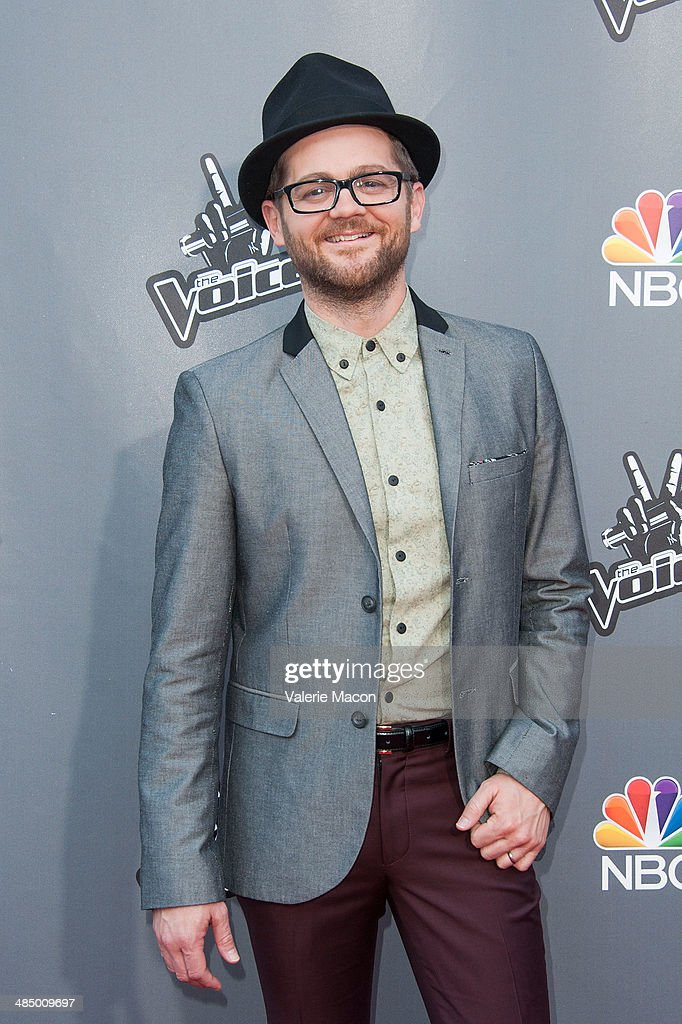 <a gi-track='captionPersonalityLinkClicked' href=/galleries/search?phrase=Josh+Kaufman&family=editorial&specificpeople=9068614 ng-click='$event.stopPropagation()'>Josh Kaufman</a> arrives at NBC's 'The Voice' Season 6 Top 12 Red Carpet Event at Universal CityWalk on April 15, 2014 in Universal City, California.