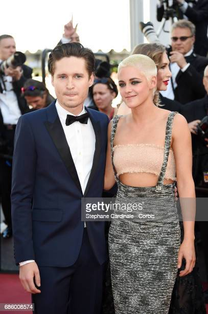 Josh Kaye and Kristen Stewart attend the '120 Beats Per Minute ' screening during the 70th annual Cannes Film Festival at Palais des Festivals on May...
