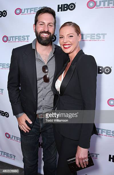Josh Kelley and Katherine Heigl attend the premiere of IFC Film's 'Jenny's Wedding' at 2015 Outfest Los Angeles LGBT Film Festival at Director's...