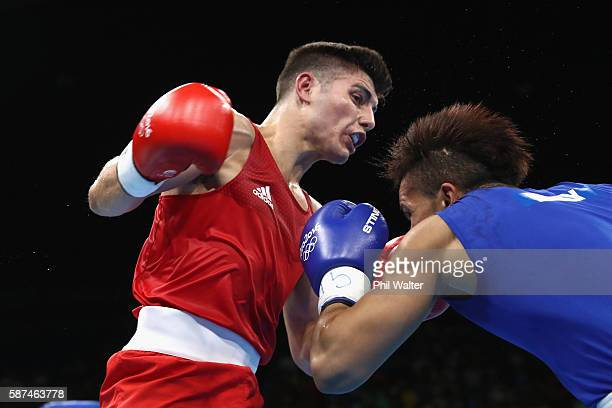 Josh Kelly of Great Britain fights Walid Mohamed of Egypt in their Mens 69kg Welterweight bout on Day 3 of the Rio 2016 Olympic Games at the...