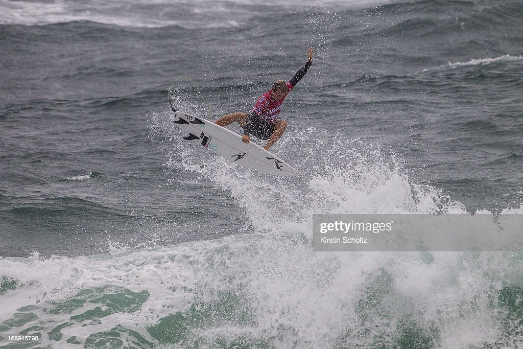 Josh Kerr of Australia performs a full aerial rotation to win his round three heat on May 17, 2013 in Rio de Janeiro, Brazil.