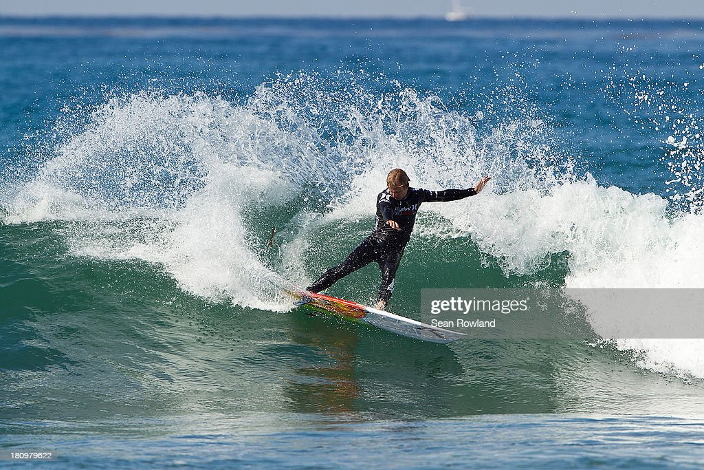 Josh Kerr of Australia surfs during the semifinals at The Hurley Pro on September 18, 2013 in San Diego, California.