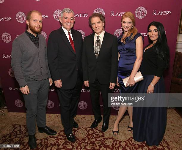 Josh Kight Arthur Makar Charles Busch Shana Farr and Shana Grossman attend the 2016 Helen Hayes Award Dinner honoring Barbara Cook at The Players...