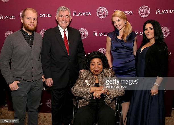 Josh Kight Arthur Makar Martina Arroyo Shana Farr and Shana Grossman attend the 2016 Helen Hayes Award Dinner honoring Barbara Cook at The Players...