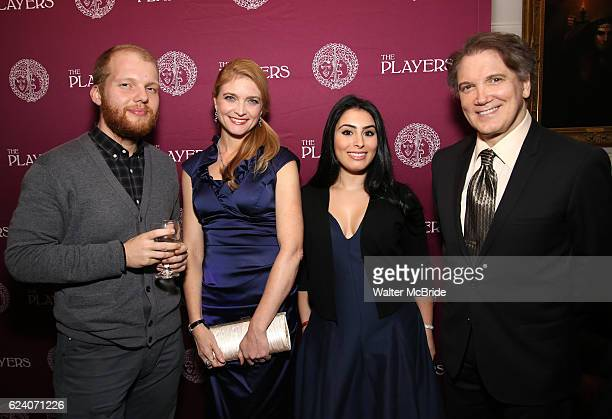 Josh Kight Shana Farr Shana Grossman and Charles Busch attend the 2016 Helen Hayes Award Dinner honoring Barbara Cook at The Players Club on November...