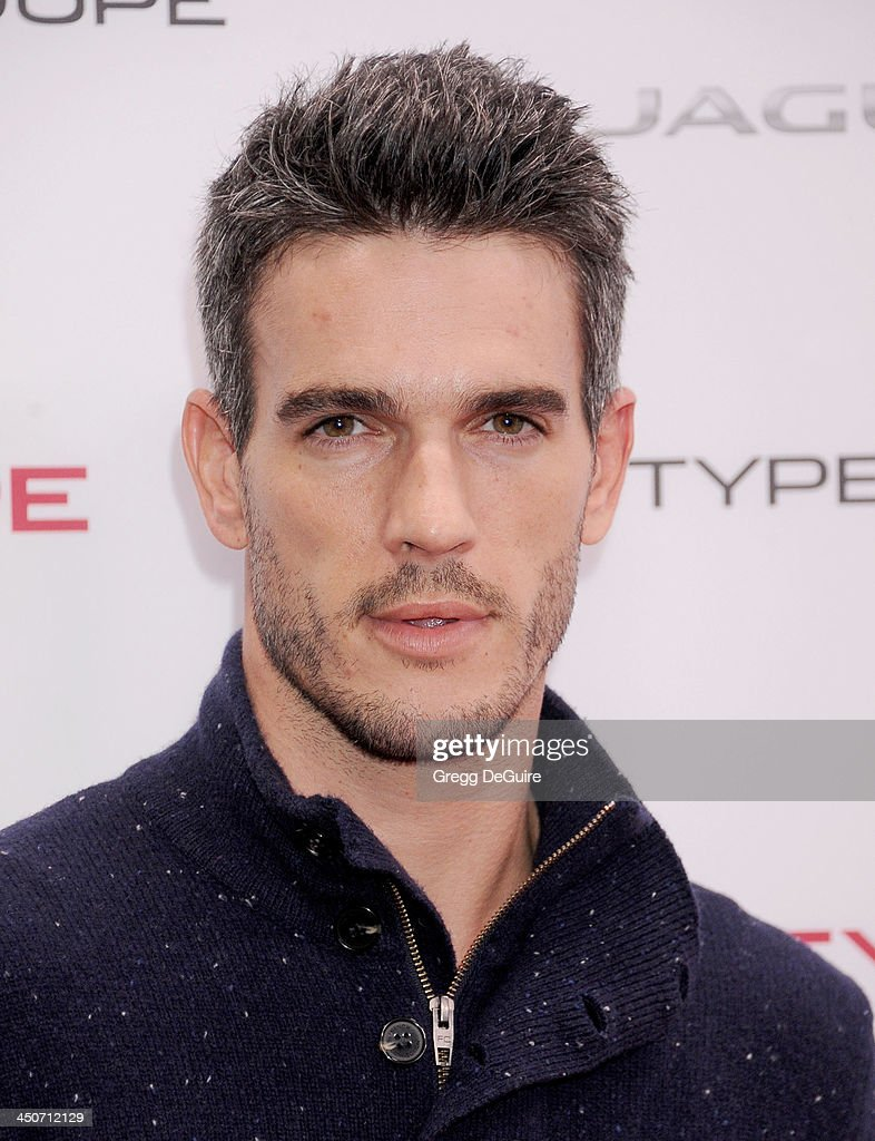 Josh Kloss arrives at the Jaguar F-TYPE Coupe launch party at Raleigh Studios on November 19, 2013 in Playa Vista, California.