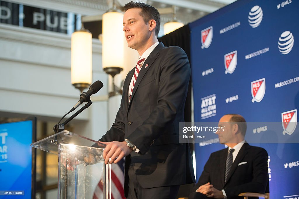 <a gi-track='captionPersonalityLinkClicked' href=/galleries/search?phrase=Josh+Kroenke&family=editorial&specificpeople=3079825 ng-click='$event.stopPropagation()'>Josh Kroenke</a>, Alternate Governor of the Colorado Rapids, talks about the excitement of the team to be hosting the 2015 MLS All-Star Game Wednesday, January 21, 2015 at Denver Union Station in Denver, Colorado. MLS commissioner Don Garber held the press conference to announce that the 2015 MLS All-Star game will be held in Commerce City at Dick's Sporting Goods Park.