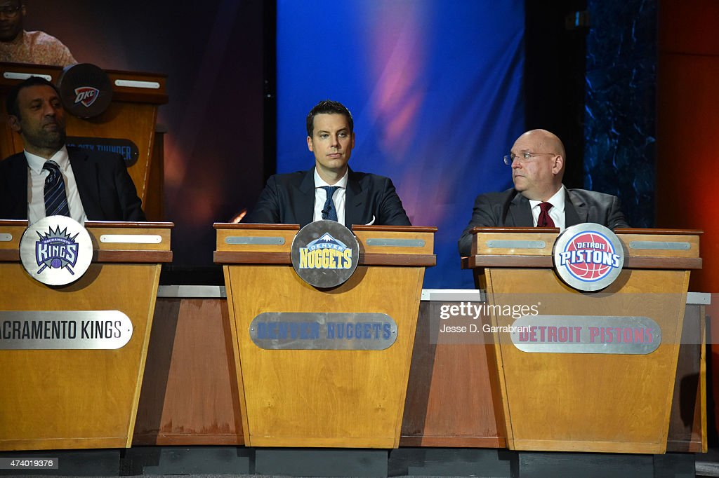 <a gi-track='captionPersonalityLinkClicked' href=/galleries/search?phrase=Josh+Kroenke&family=editorial&specificpeople=3079825 ng-click='$event.stopPropagation()'>Josh Kroenke</a> of the Denver Nuggets during the 2015 NBA Draft Lottery on May 19, 2015 at the New York Hilton Midtown in New York City.
