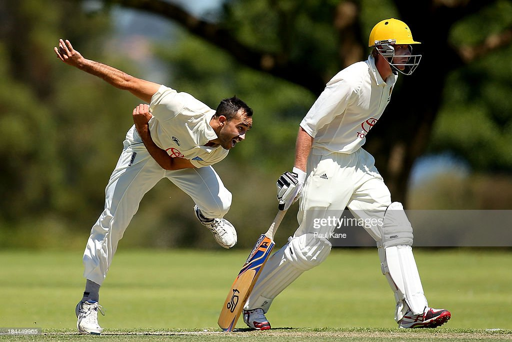 Josh Lalor of New South Wales bowls during day one of the Futures League match between Western Australia and New South Wales at Richardson Park on October 14, 2013 in Perth, Australia.