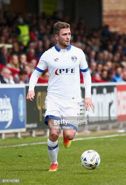 Josh Law of Oldham Athletic runs with the ball during the Sky Bet League One match between AFC Wimbledon and Oldham Athletic at The Cherry Red...