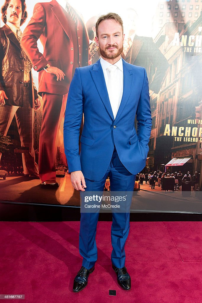 Josh Lawson arrives at the 'Anchorman 2: The Legend Continues' Australian premiere on November 24, 2013 in Sydney, Australia.
