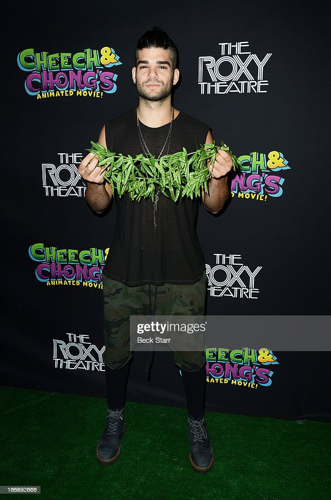 DJ Josh LeCash arrives at 'Cheech And Chong's Animated Movie!' VIP green carpet premiere at The Roxy Theatre on April 17, 2013 in West Hollywood, California.