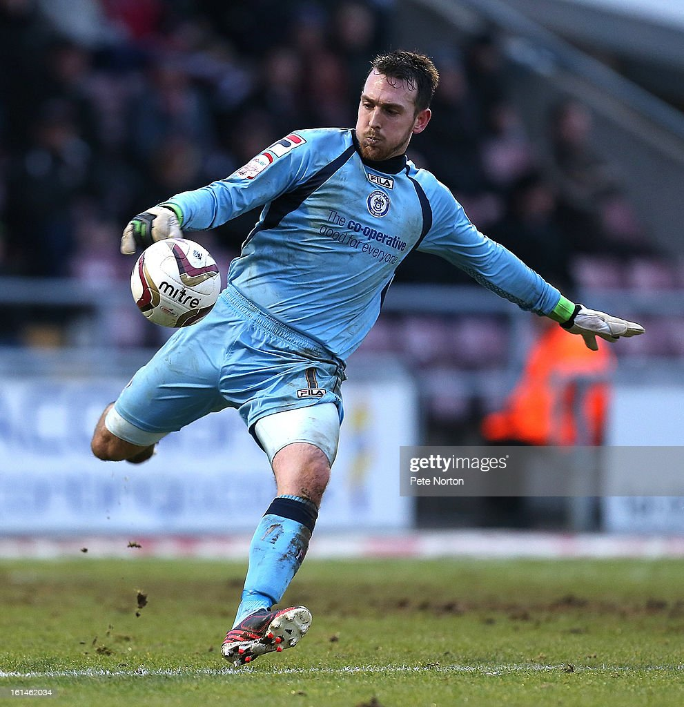 Josh Lillis of Rochdale in action during the npower League Two match between Northampton Town and Rochdale at Sixfields Stadium on February 9, 2013 in Northampton, England.