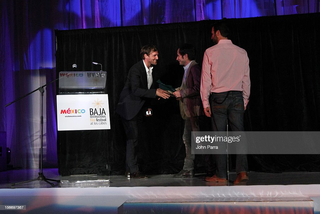Josh Lucas and Gael Garcia Bernal attend the Closing Night Gala during the Baja International Film Festival at Los Cabos Convention Center on November 17, 2012 in Cabo San Lucas, Mexico.