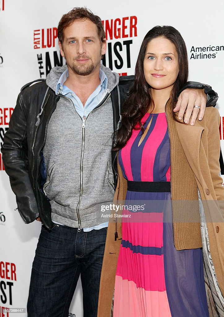 Josh Lucas(L) and Jessica Ciencin Henriquez attend 'The Anarchist' Broadway opening night at John Golden Theatre on December 2, 2012 in New York City.