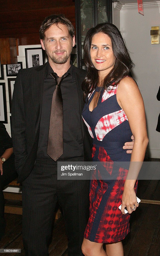 <a gi-track='captionPersonalityLinkClicked' href=/galleries/search?phrase=Josh+Lucas&family=editorial&specificpeople=216514 ng-click='$event.stopPropagation()'>Josh Lucas</a> and wife attends The Weinstein Company with The Hollywood Reporter, Samsung Galaxy & The Cinema Society screening of 'Django Unchained' after party at the The Standard Hotel on December 11, 2012 in New York City.