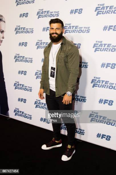 Josh Mansour arrives ahead of The Fate of the Furious Sydney Premiere on April 11 2017 in Sydney Australia