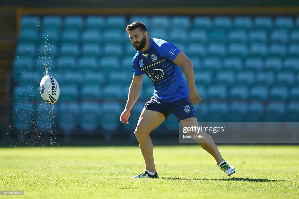 Josh Mansour catches a ball during a City NSW Origin training session at Leichhardt Oval on May 3, 2016 in Sydney, Australia.