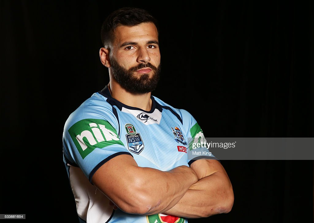Josh Mansour of the Blues poses during a New South Wales Blues NRL State of Origin portrait session at The Novatel on May 24, 2016 in Coffs Harbour, Australia.