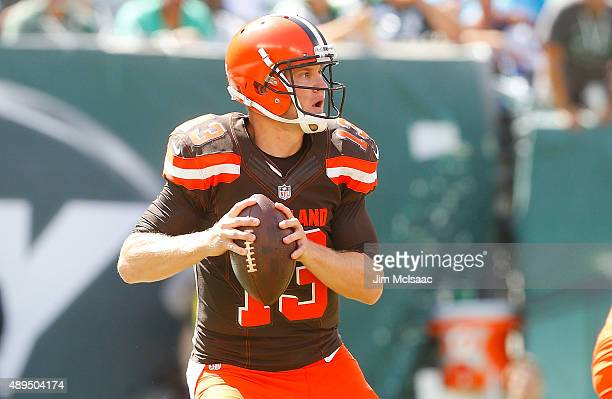 Josh McCown of the Cleveland Browns in action against the New York Jets on September 13 2015 at MetLife Stadium in East Rutherford New Jersey The...