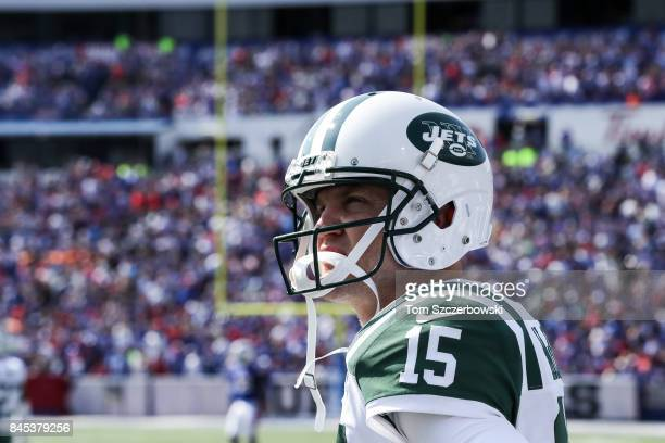 Josh McCown of the New York Jets during the second half against the Buffalo Bills on September 10 2017 at New Era Field in Orchard Park New York