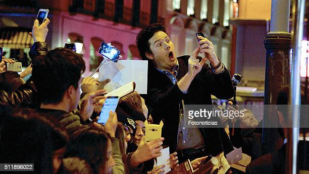 Josh McDermitt attends the 'The Walking Dead' fan event at Callao Cinema on February 23 2016 in Madrid Spain