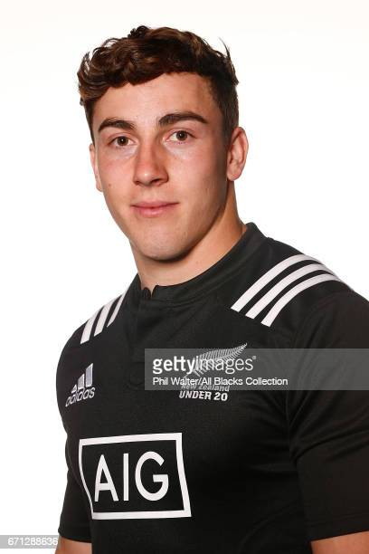 Josh McKay poses during the New Zealand U20 Headshots Session at Novotel Auckland Airport on April 22 2017 in Auckland New Zealand
