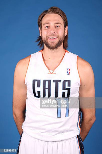 Josh McRoberts of the Charlotte Bobcats poses for media day at the Time Warner Cable Arena on September 20 2013 in Charlotte North Carolina NOTE TO...