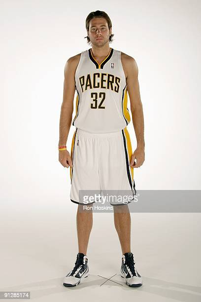 Josh McRoberts of the Indiana Pacers poses for a portrait during 2009 NBA Media Day on September 25 2009 at Conseco Fieldhouse in Indianapolis...