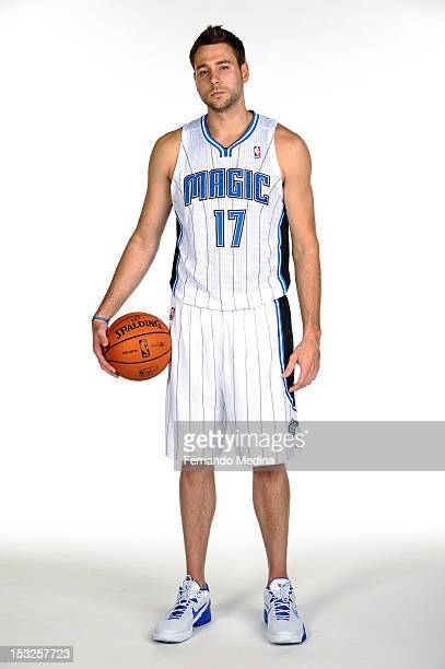 Josh McRoberts of the Orlando Magic poses for a portrait at media day on October 1 2012 at Amway Center in Orlando Florida NOTE TO USER User...