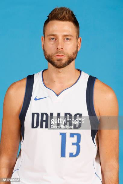 Josh McRoberts poses for a photo during the Dallas Mavericks Media Day on September 25 2017 at the American Airlines Center in Dallas Texas NOTE TO...